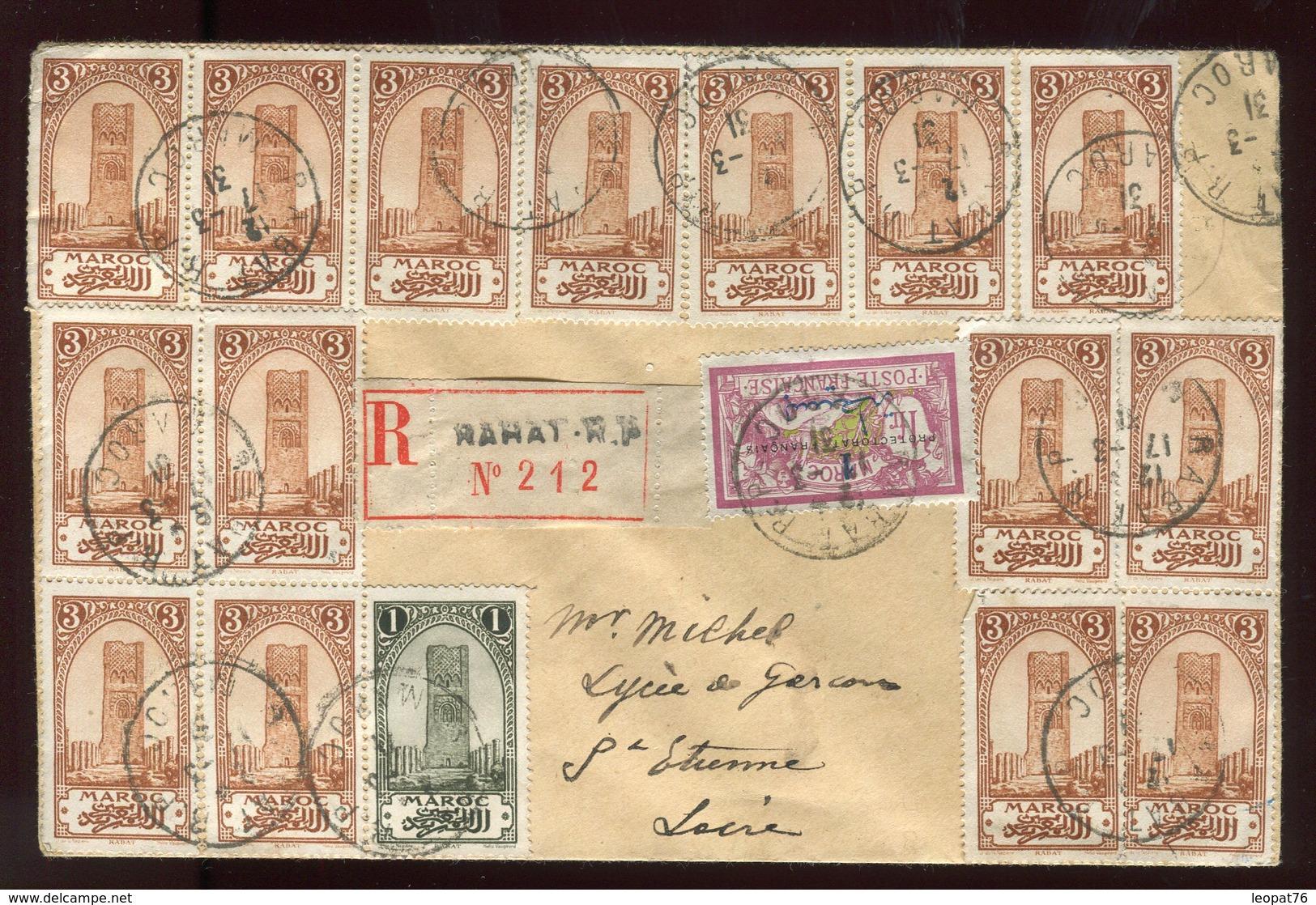 Maroc - Enveloppe En Recommandé De Rabat En 1931 Pour St Etienne - Prix Fixe - Réf F55 - Marokko (1891-1956)