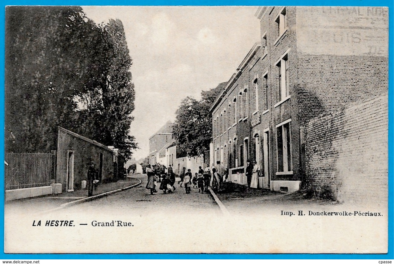CPA LA HESTRE (Manage) Belgique - Grand'Rue ° Imp. H. Donckerwolke-Pécriaux - Manage