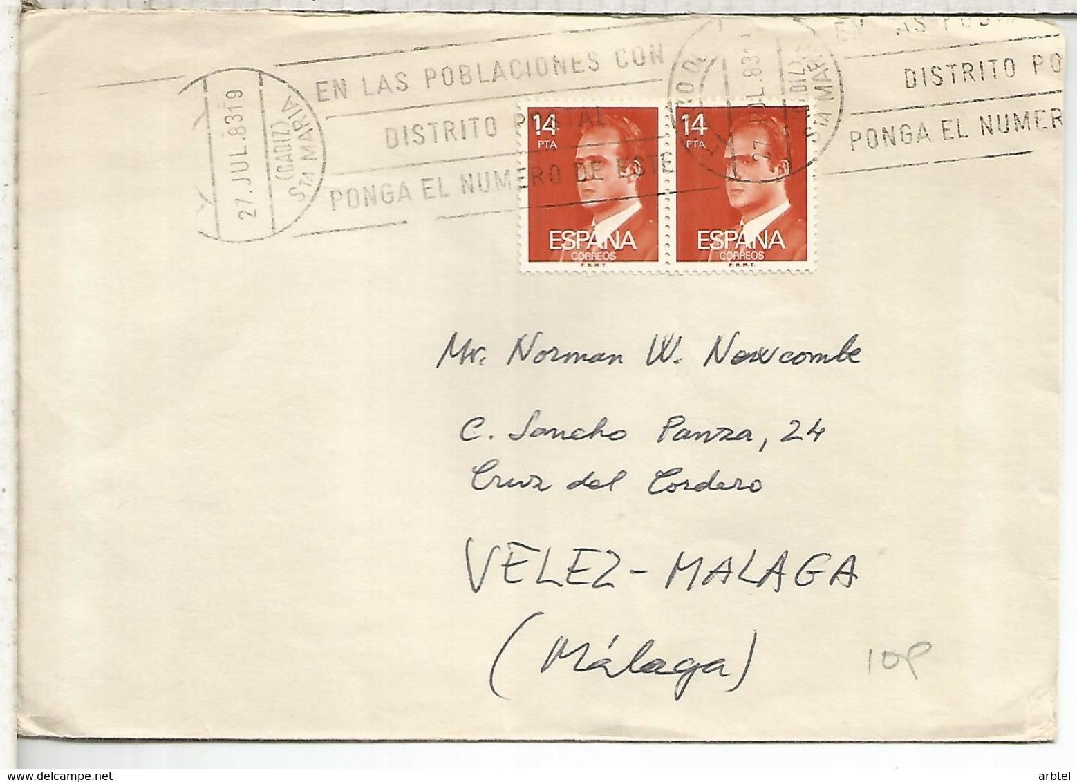 PUERTO DE SANTA MARIA CADIZ  CC SELLOS BASICA - 1931-Hoy: 2ª República - ... Juan Carlos I