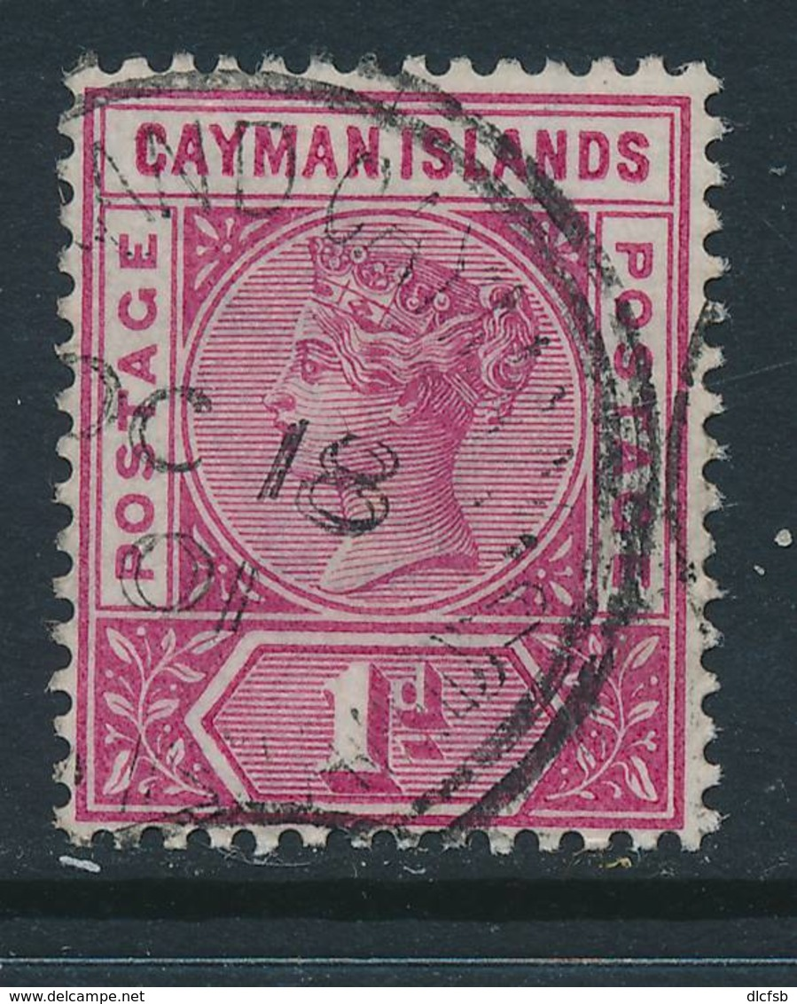 CAYMAN, 1900 1d Rose-carmine VFU, SG2 - Kaaiman Eilanden
