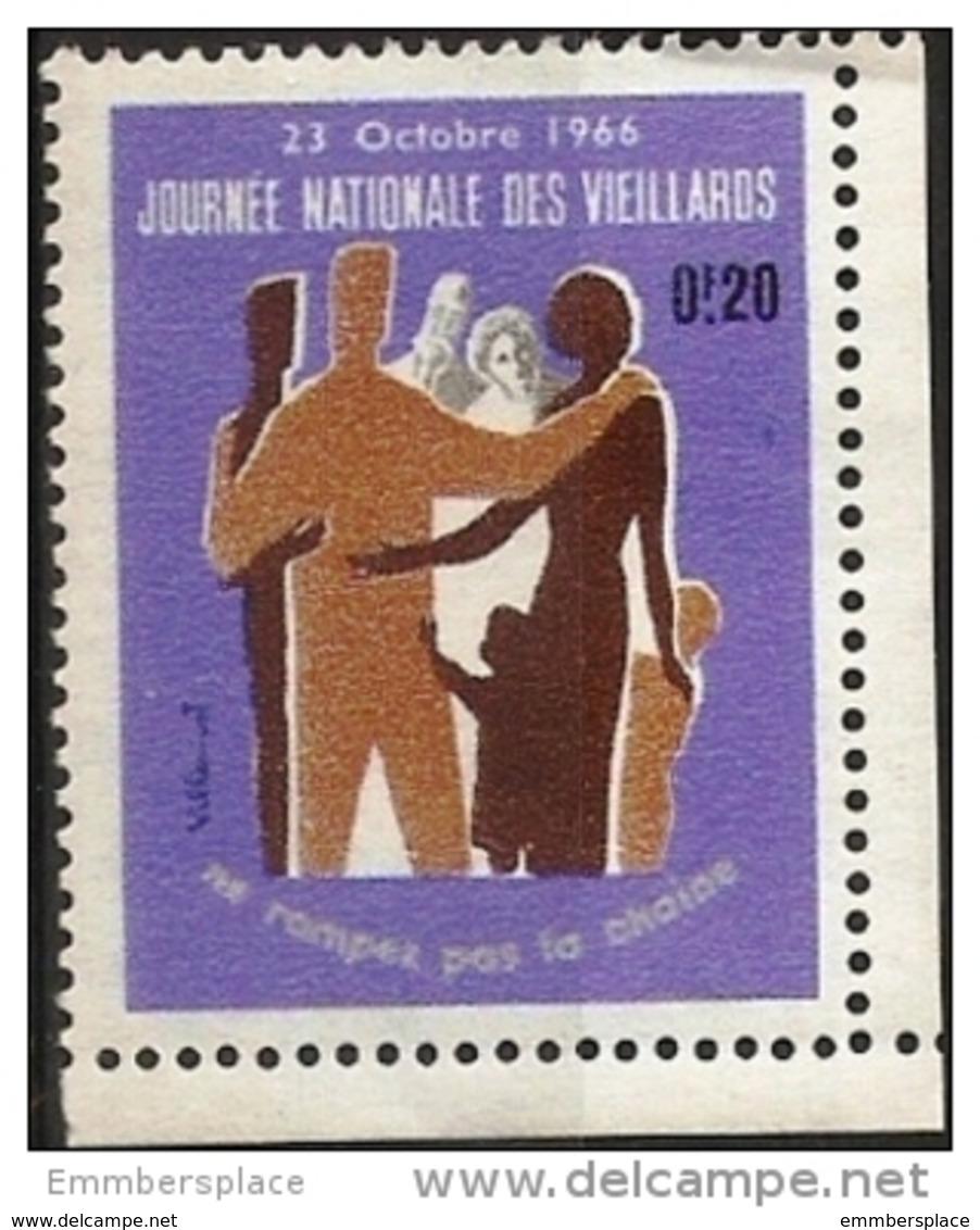 France Vignette - 1966 Journee Nationale Des Vieillards 20c Poster Stamp - Commemorative Labels