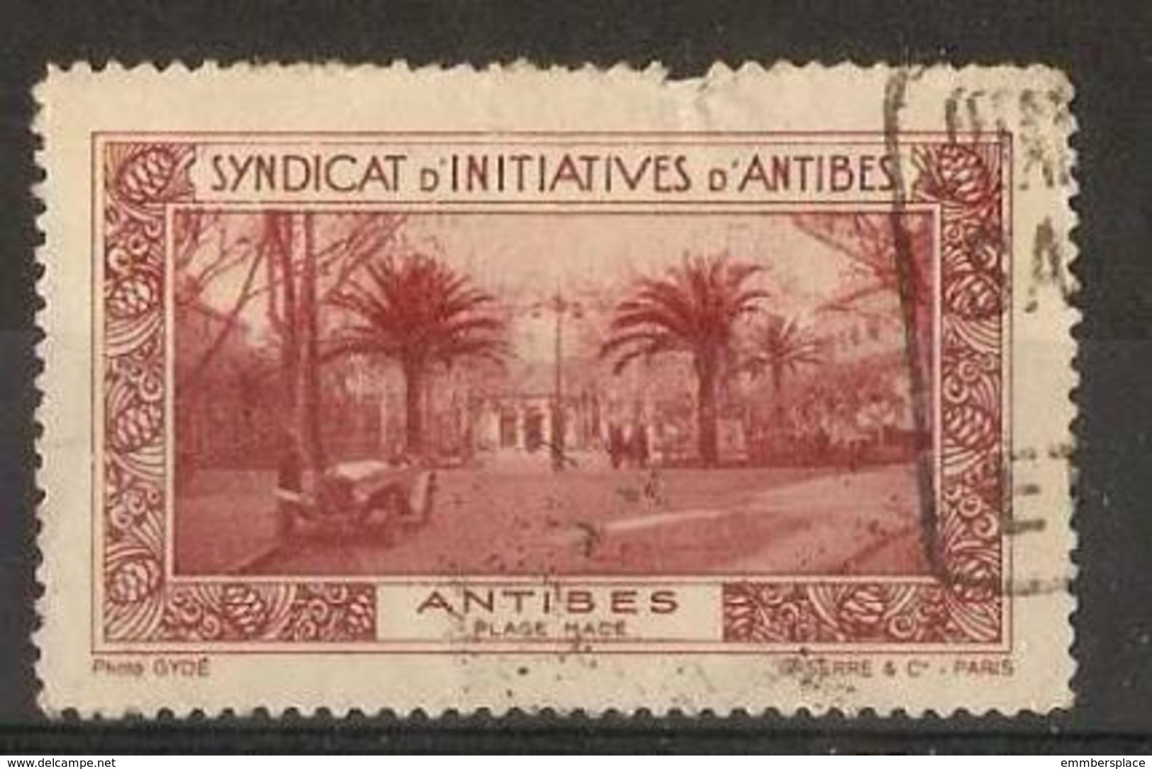 France Poster Stamp - Tourist Publicity For Antibes - Commemorative Labels