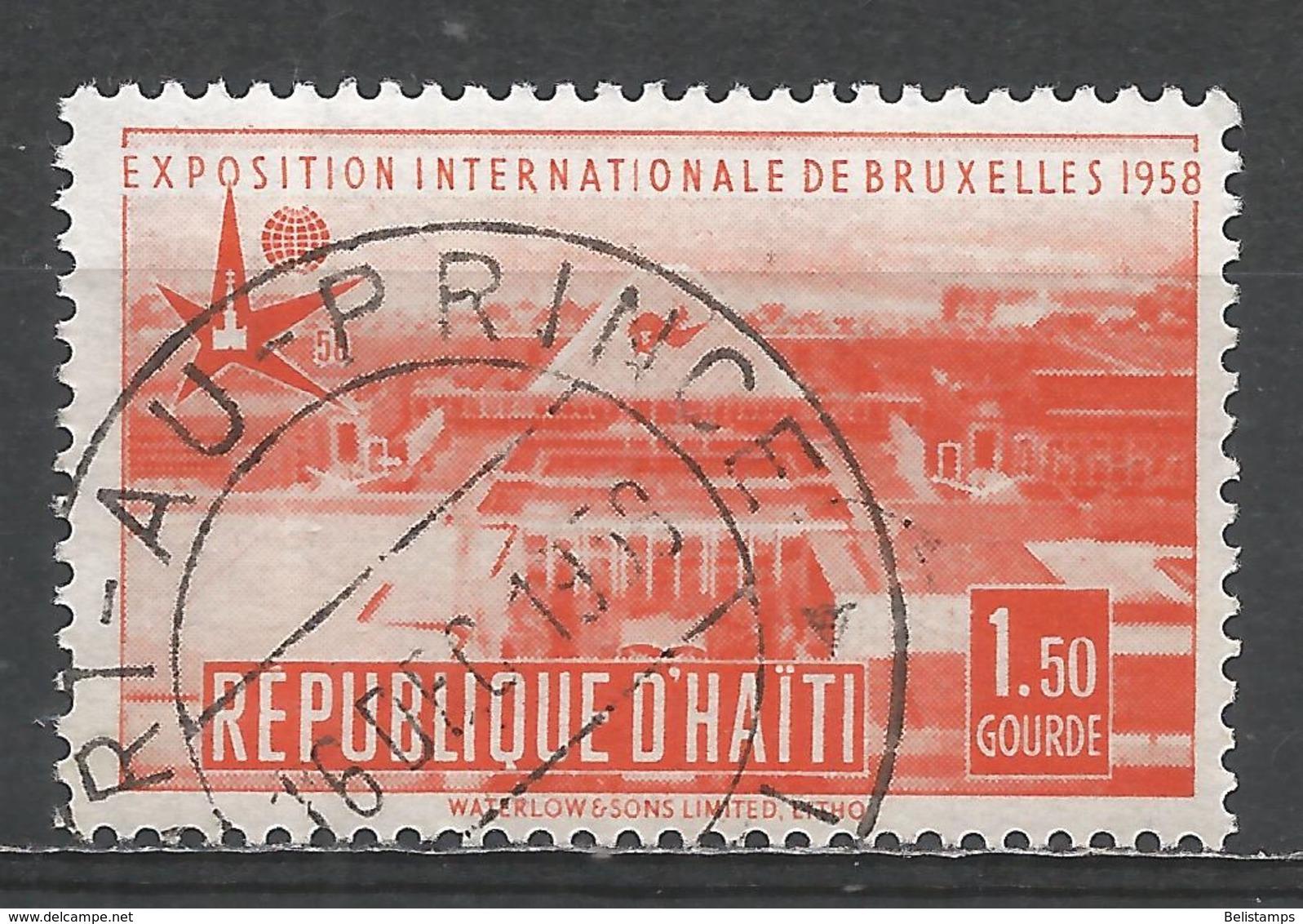 Haiti 1958. Scott #420 (U) View Of Brussels Exposition * - Haïti