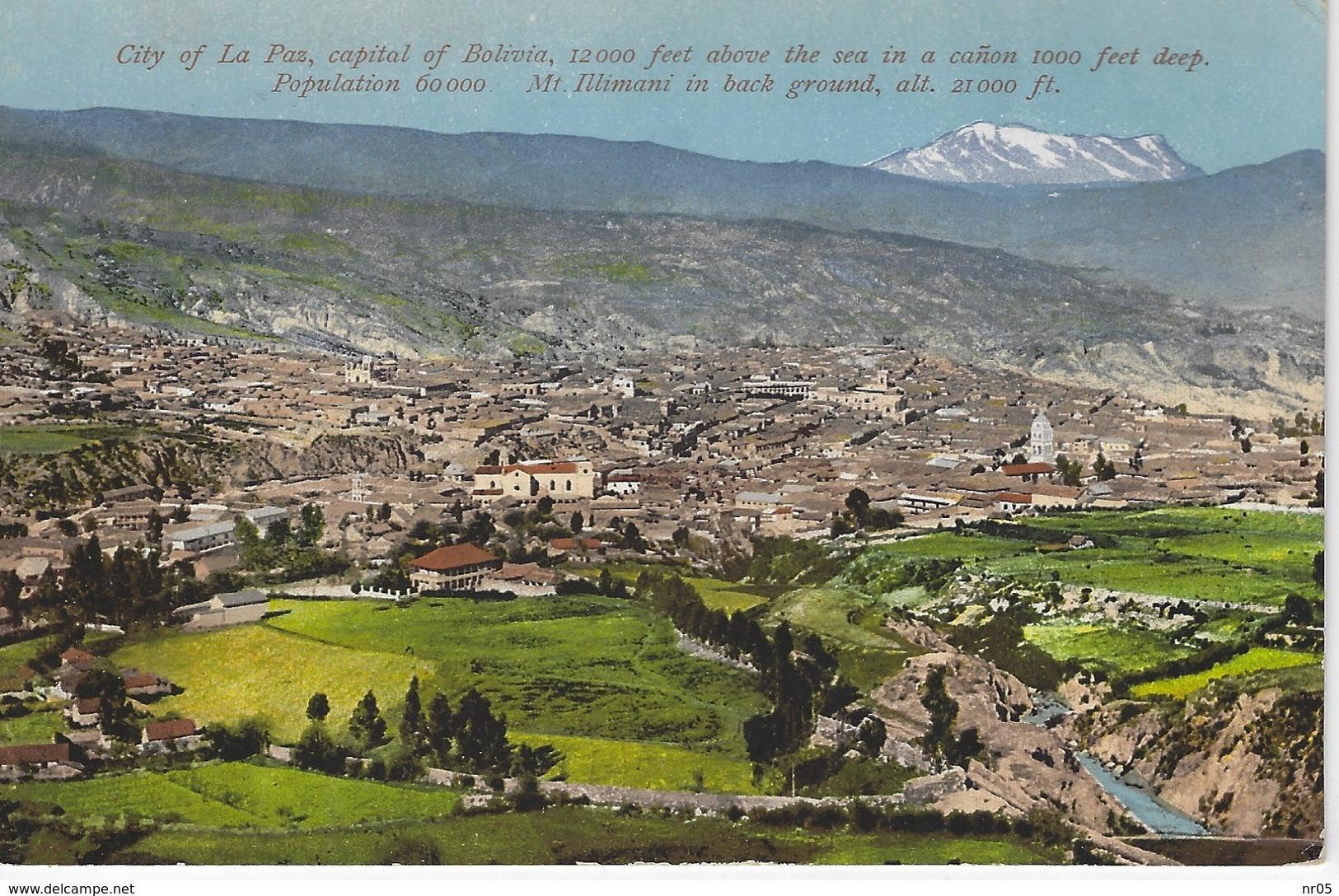 CPA BOLIVIE - AMERIQUE Du SUD  - City Of La Paz, Capital Of Bolivia - Bolivie