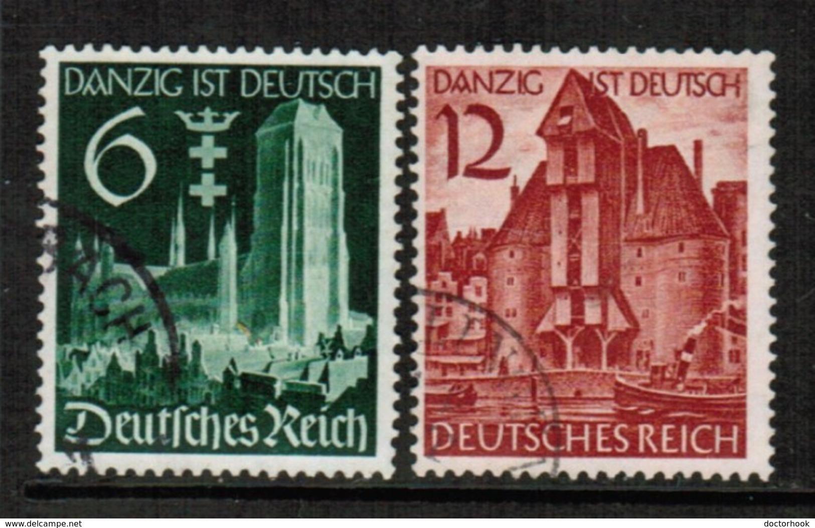 GERMANY  Scott # 492-3 VF USED (Stamp Scan # 454) - Germany