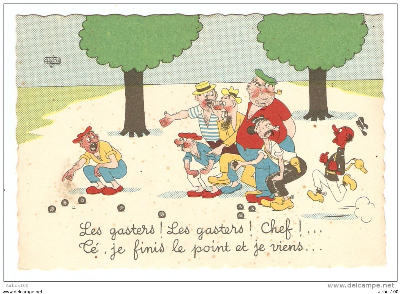 HUMOUR ILLUSTRATEUR DUBOUT LES GASTERS CHEFS - Éd. DU MOULIN 1959 N° 33 A - NON CIRCULÉE - 2 Scans - - Dubout