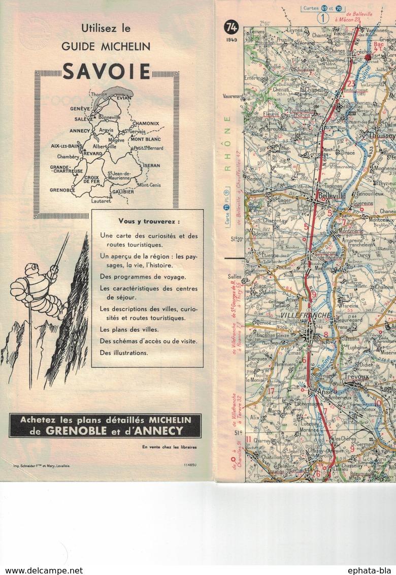 Lyon-Genève. Cartes Michelin. 1949. - Cartes Routières