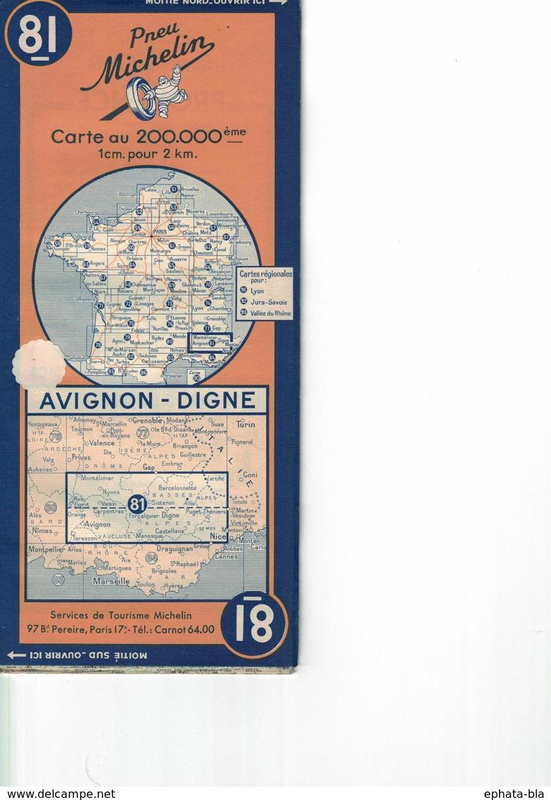 Avignon-Digne. Cartes Michelin. 1948. - Cartes Routières