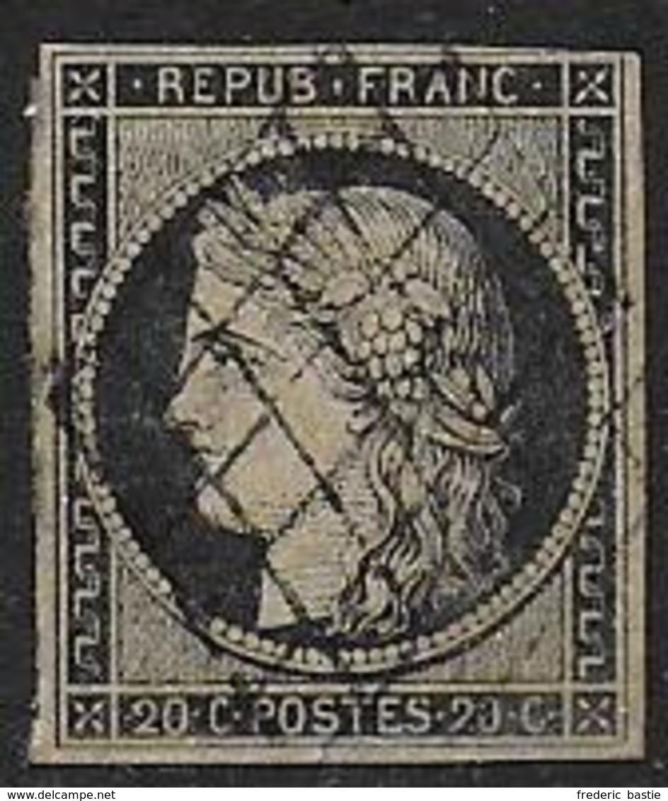 Cérès N° 3 Oblitéré - Cote : 65 € - 1849-1850 Ceres