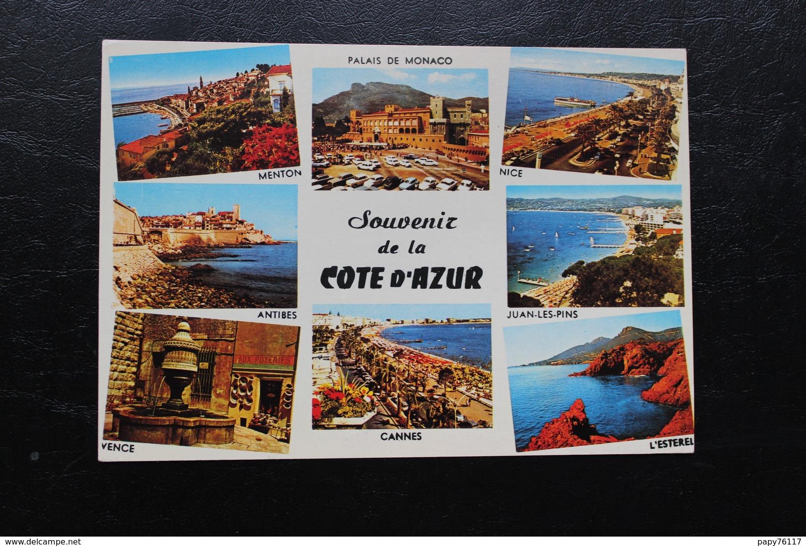 CPM  83 SOUVENIR COTE AZUR  MENTON PALAIS MONACO NICE ANTIBES JUAN LES PINS VENCE CANNES  L ESTEREL - France