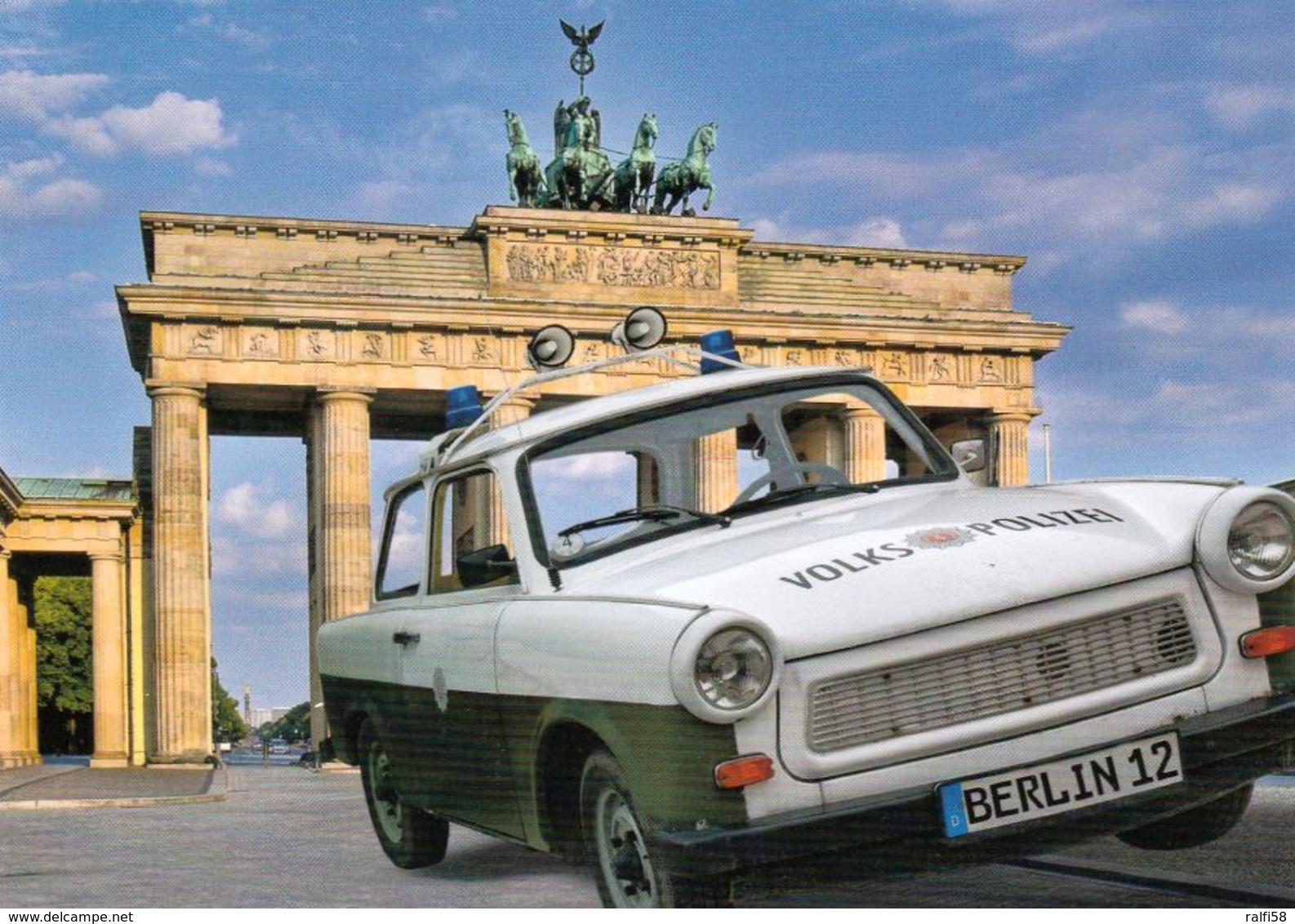 1 AK Germany * Brandenburger Tor Und Ein Trabant Der Volkspolizei * - Brandenburger Tor