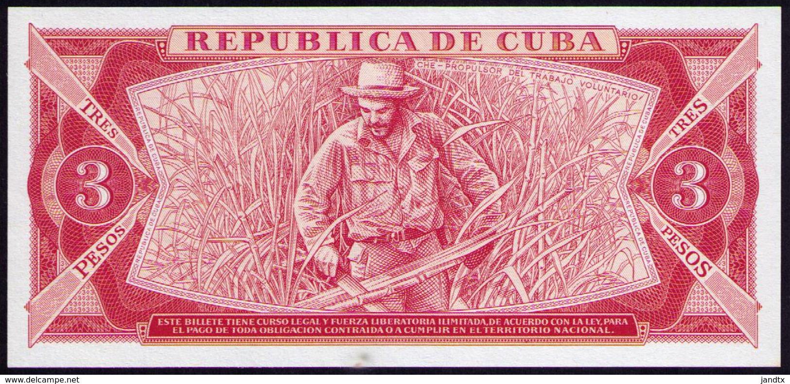 CUBA 3 PESOS 1984 SC - UNC - Cuba