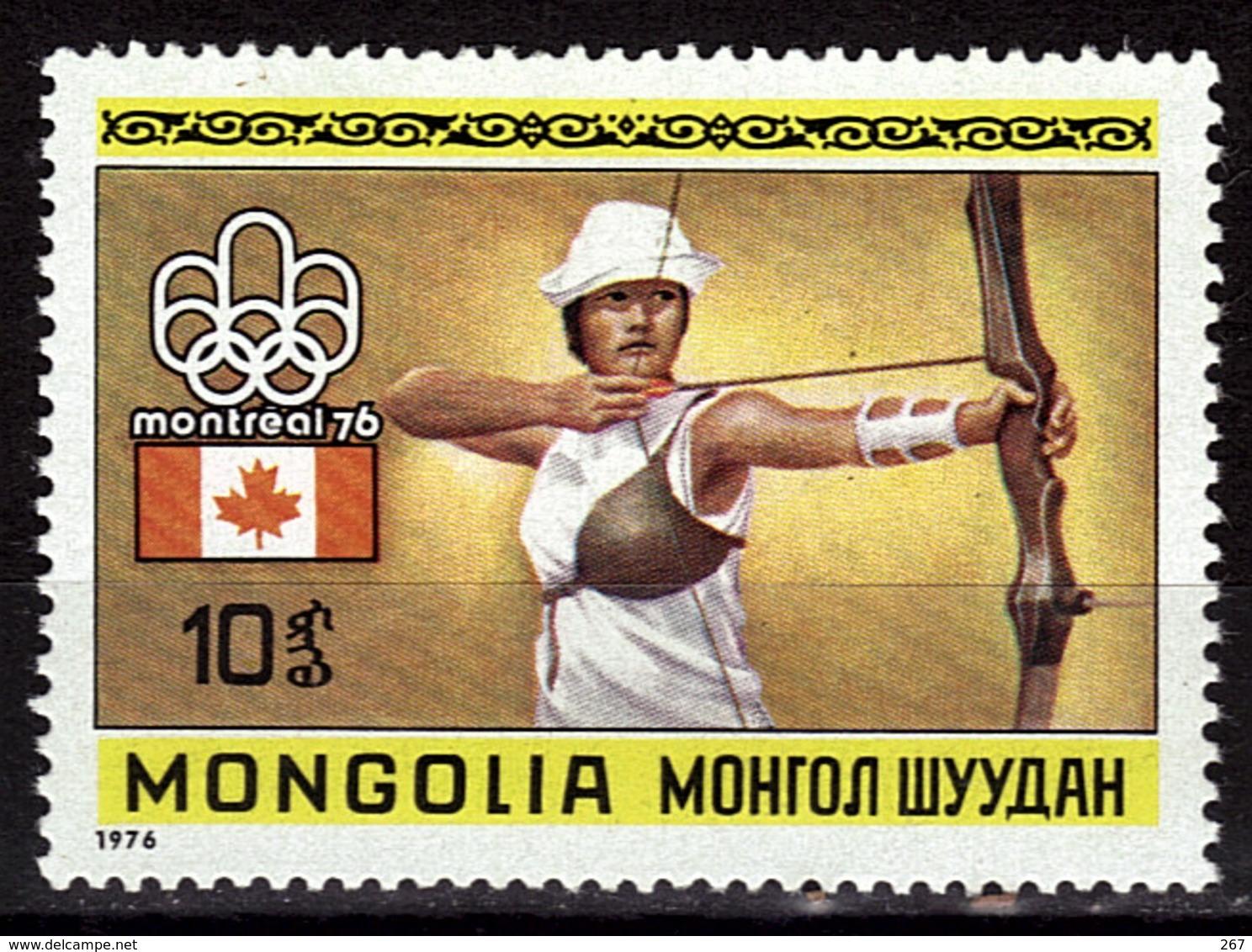 MONGOLIE  N° 832  * * JO 1976 Tir A L Arc - Archery