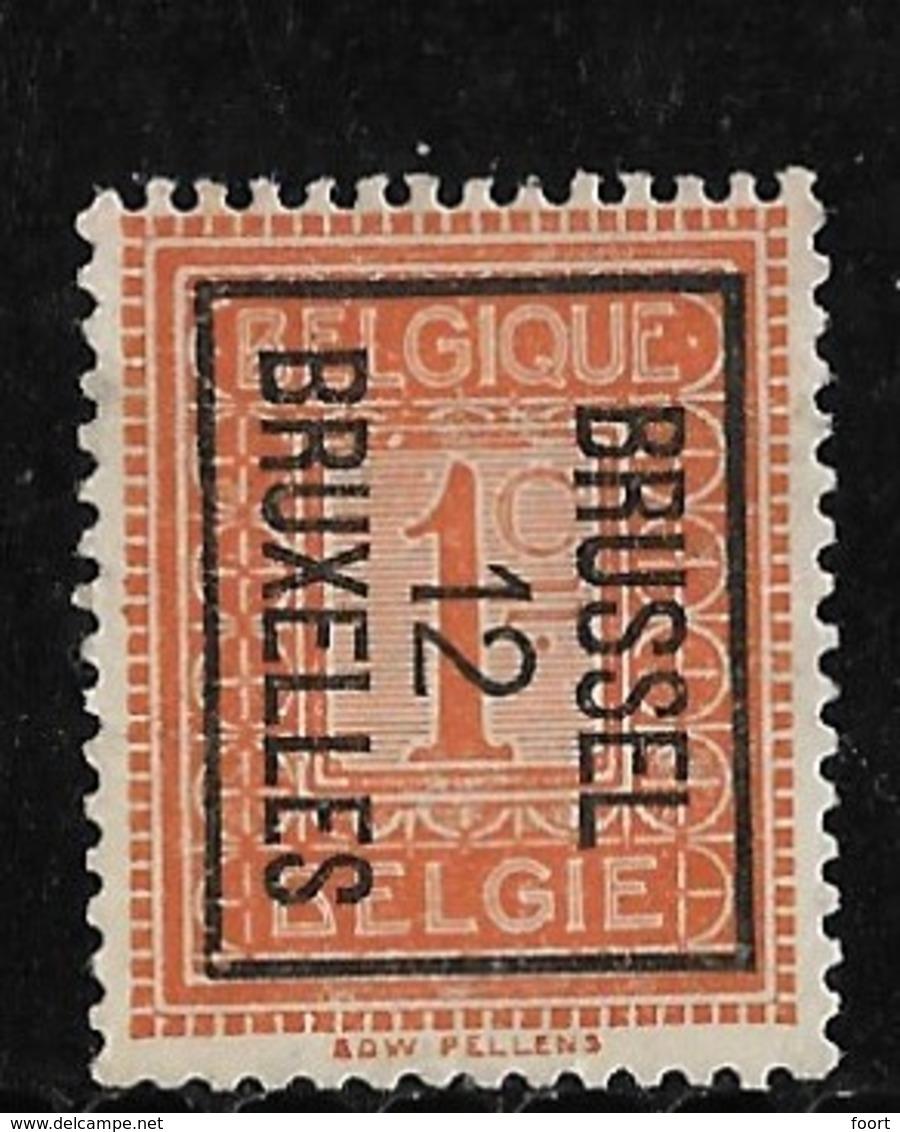 Brussel  1912 Typo Nr. 29Bzz - Precancels