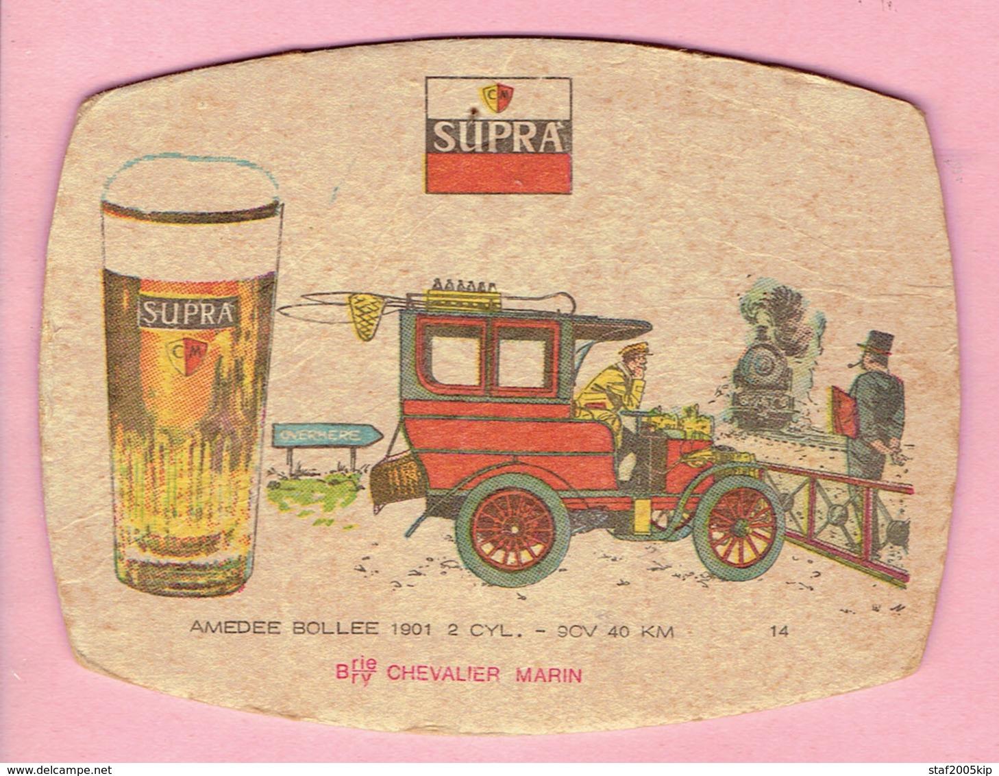 Bierviltje - SUPRA - CHEVALIER MARIN - AMEDEE BOLLEE 1901 - 2 CYL. - 9CV  40 Km - Overmeire - Portavasos