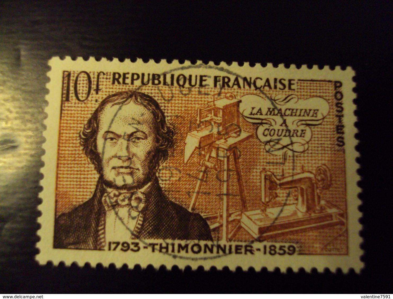 """A Partir De 1920 - Timbre Oblitéré N°  1013    """" Thimonnier      """"       Net 1   Photo  1 - France"""