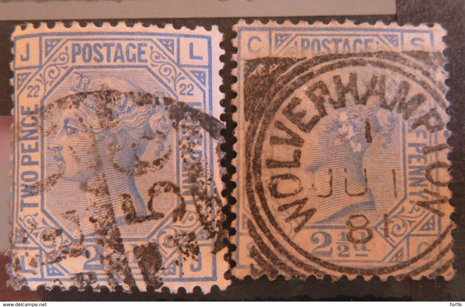 Grande-Bretagne - Collection De 86 Timbres Types Victoria Et George V Dont Forte Cote N°86 / 87 - Oblitérés - Collections