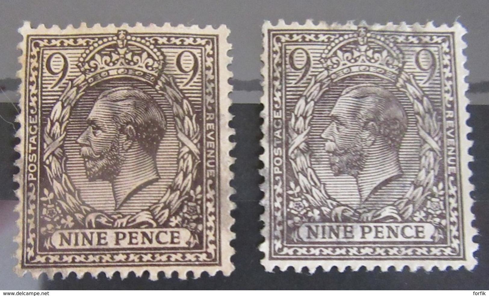 Grande-Bretagne - Collection De 86 Timbres Types Victoria Et George V Dont Forte Cote N°86 / 87 - Oblitérés - Great Britain