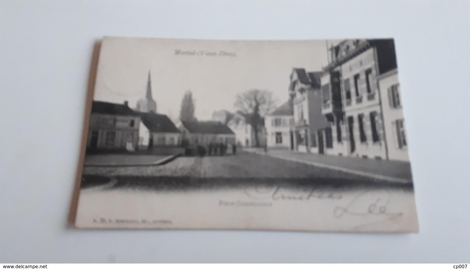 * MORTSEL (Vieux-Dieu) Place Communale  Animée Oblitérée Début 1900 - Mortsel