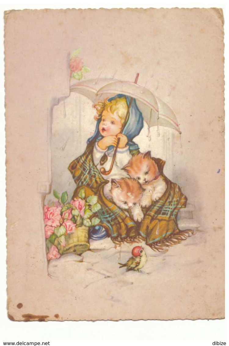 CPSM. 6 Cartes Anciennes. Enfants, Animaux Et Fleurs. Toutes Différentes. - Enfants