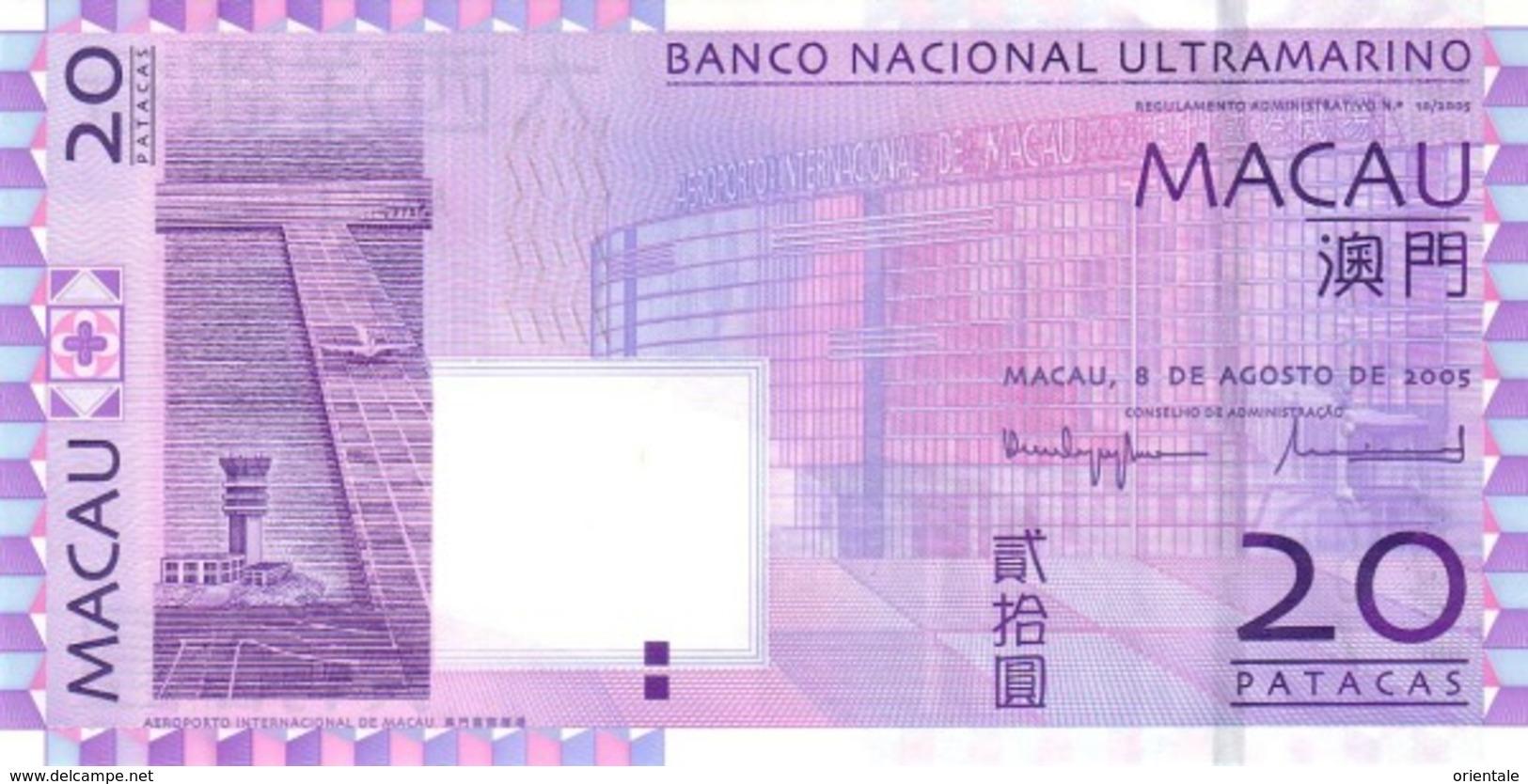 MACAU P.  81a 20 P 2005 UNC - Macao
