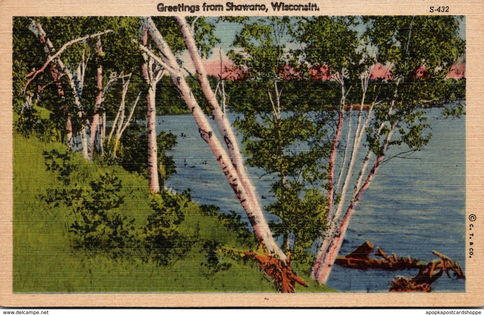 Wisconsin Greetings From Shawano Curteich
