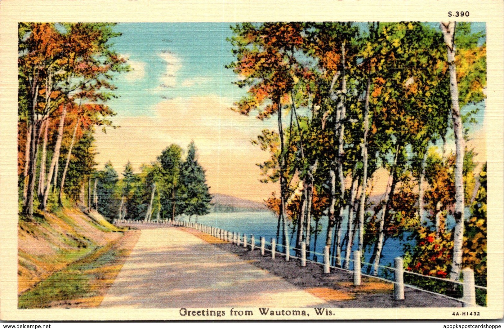 Wisconsin Greetings From Wautoma 1939 Curteich