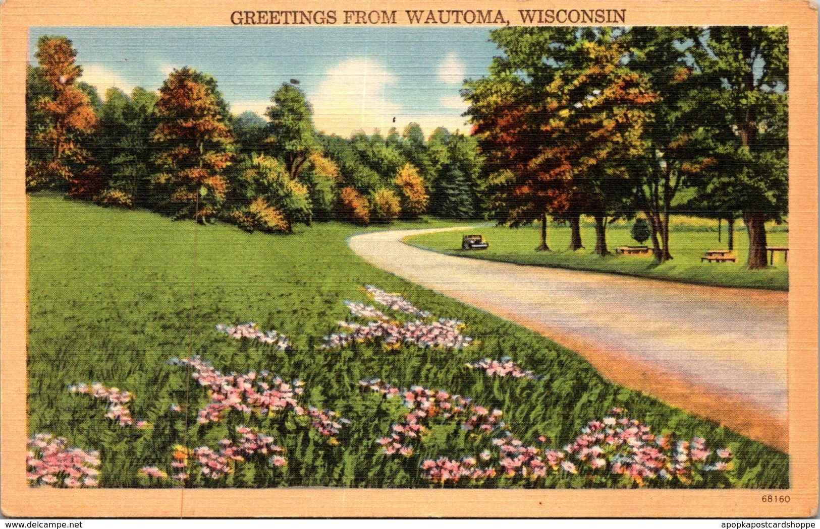 Wisconsin Greetings From Wautoma 1955