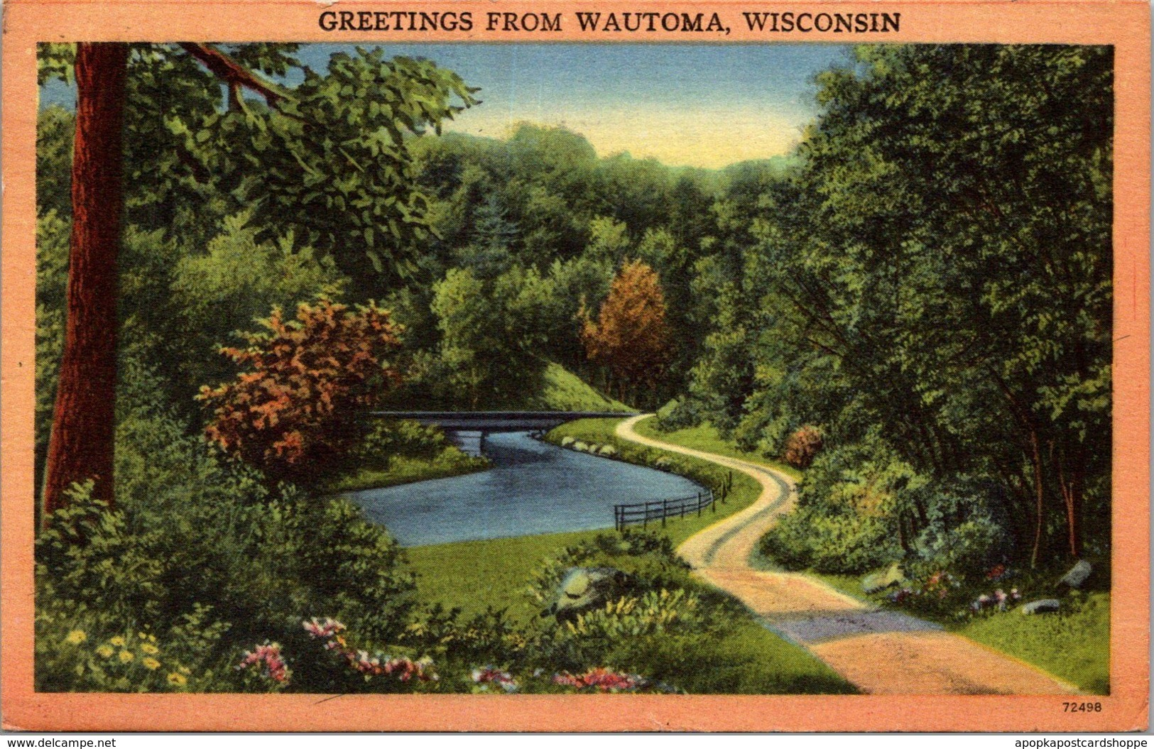 Wisconsin Greetings From Wautoma 1951