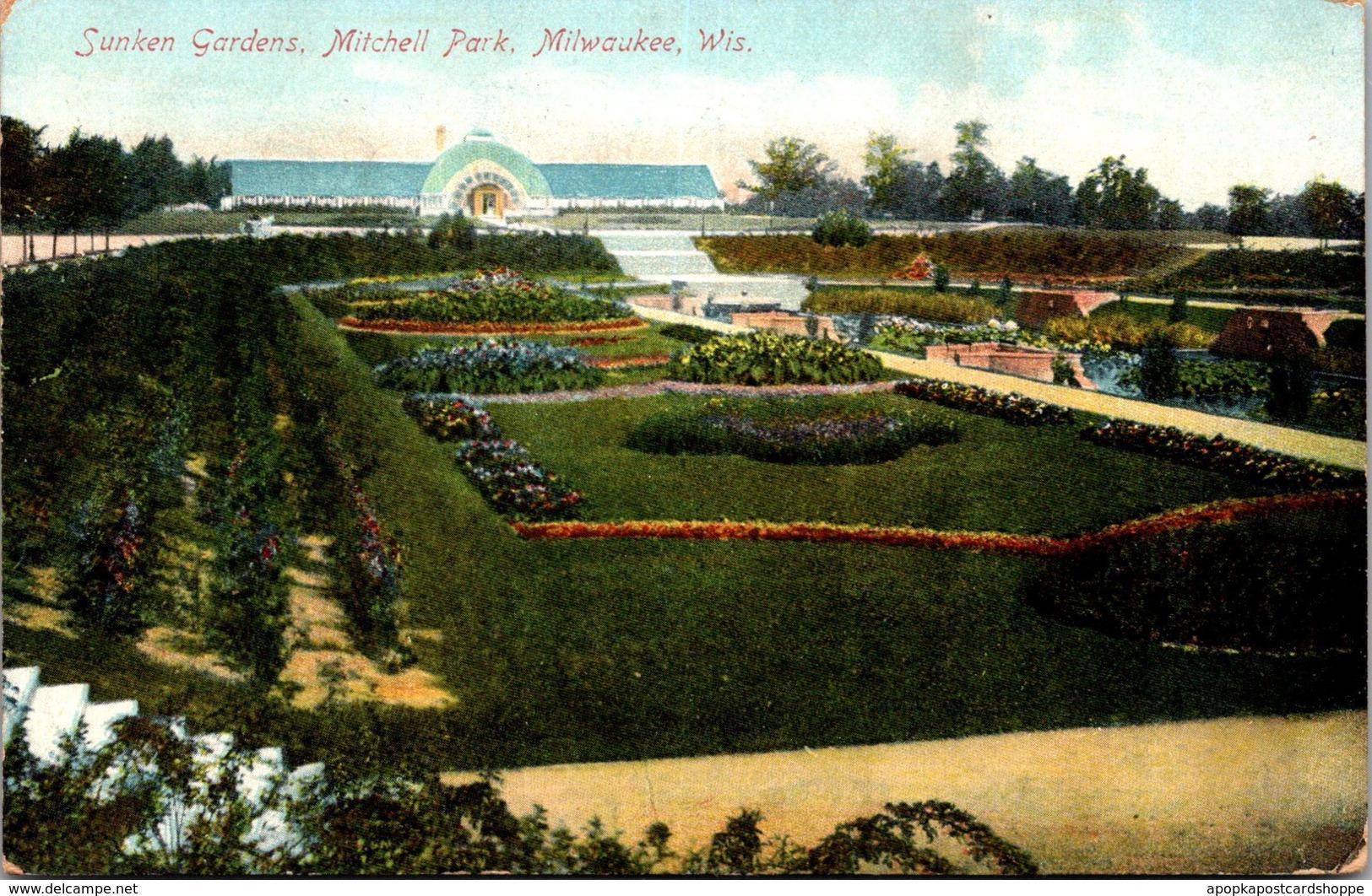 Wisconsin Milwaukee Mitchell Park Sunken Gardens 1908