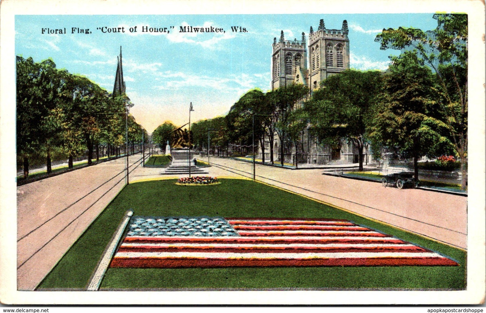 Wisconsin Milwaukee Floral Flag Court Of Honor