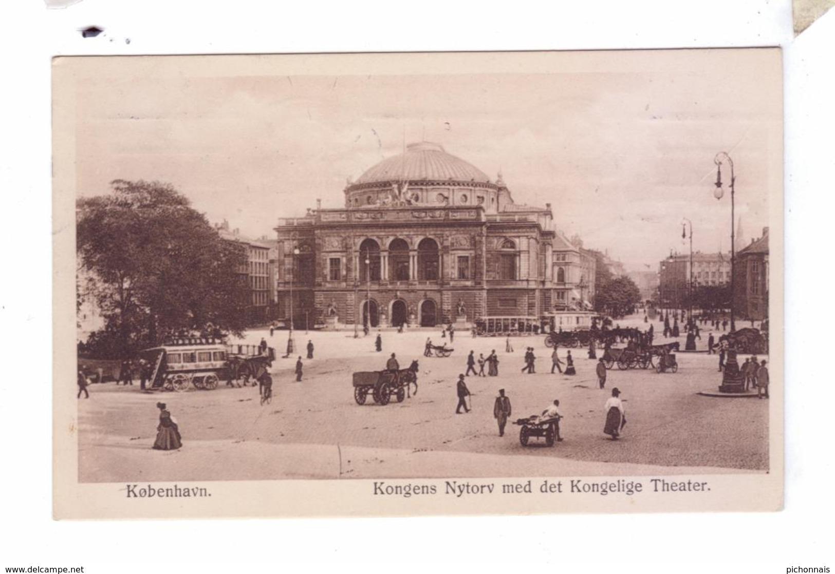 KJOBENHAVN Kobenhan  Copenhagen Kongens Nytorv Med Det Kongelige Theater - Danemark