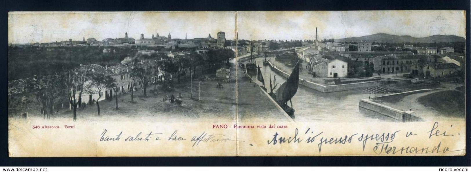 Fano ( Cartolina Doppia ) - Fano