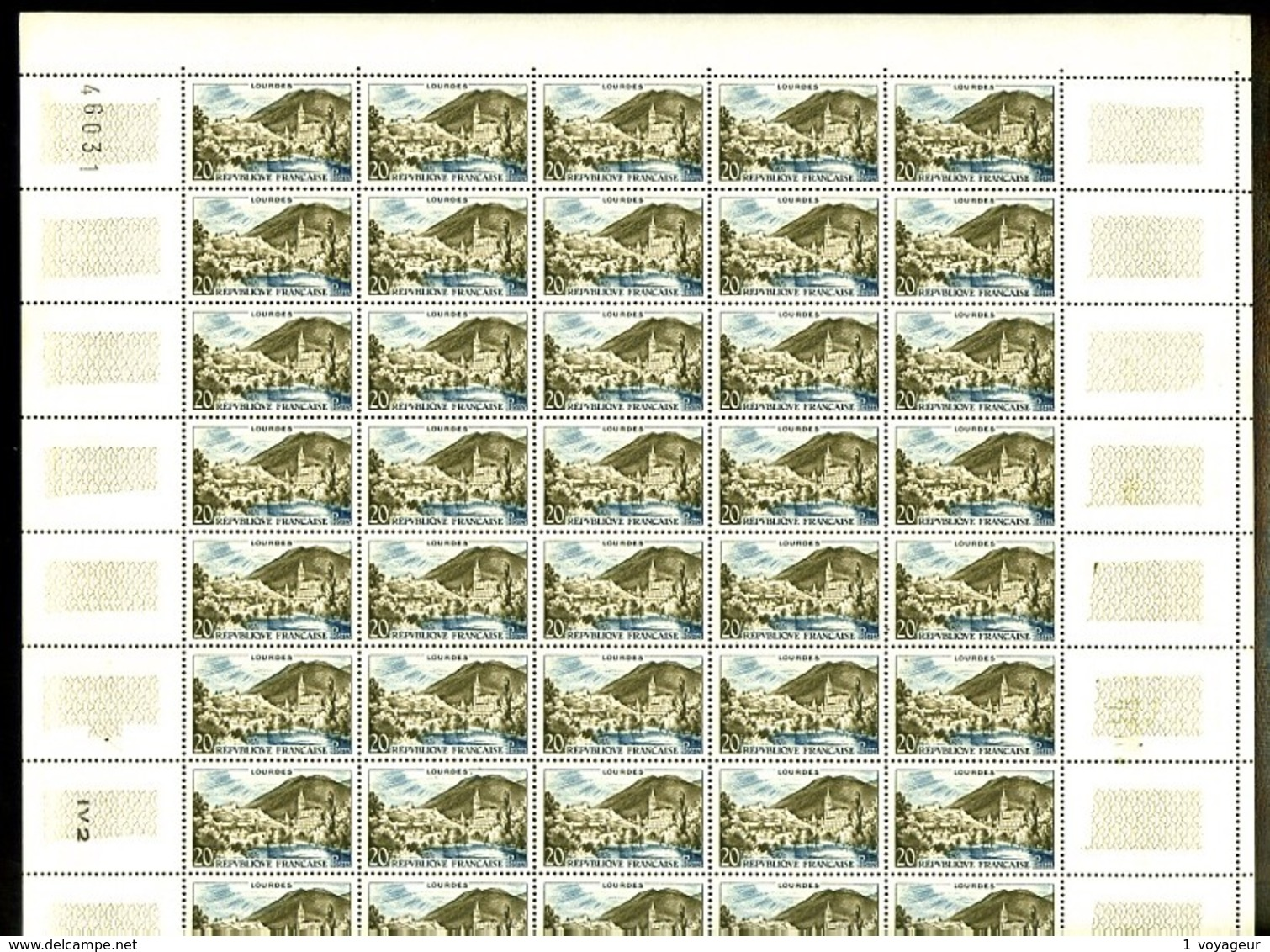 1150 - 20F Lourdes - En Feuille Complète De 50 Exemplaires - Neufs N** - TB - Feuilles Complètes