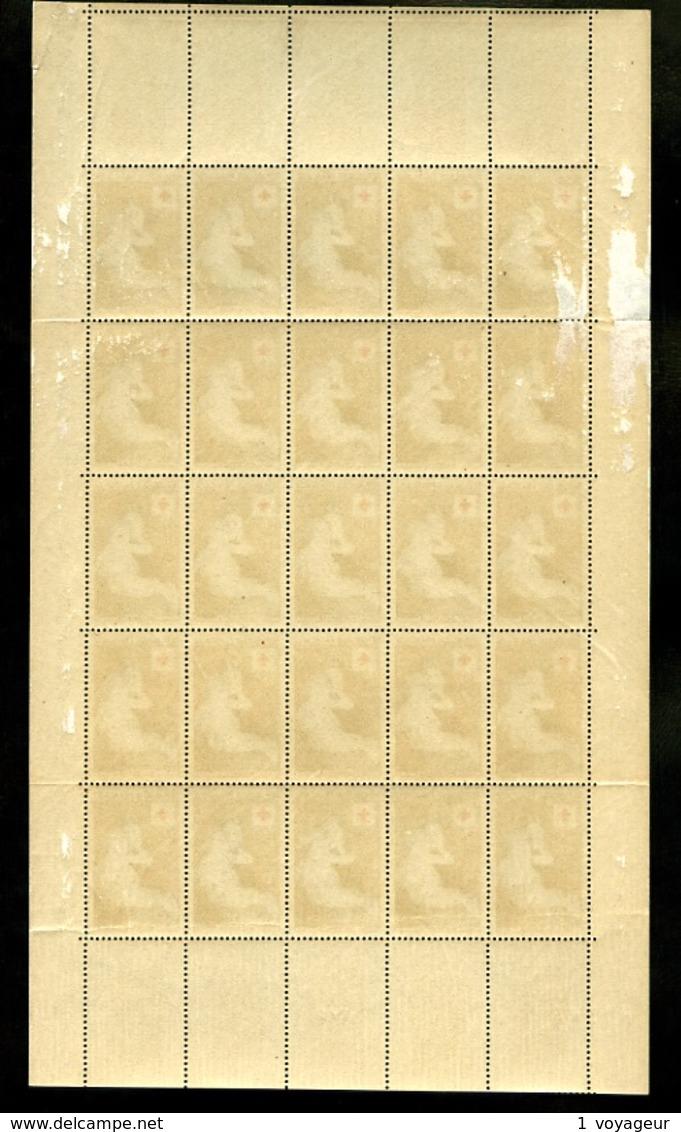 1006 - 12F+3F Croix-Rouge - En Feuille Complète De 25 Exemplaires - Neufs N** - Cote : 350 E+ - Feuilles Complètes