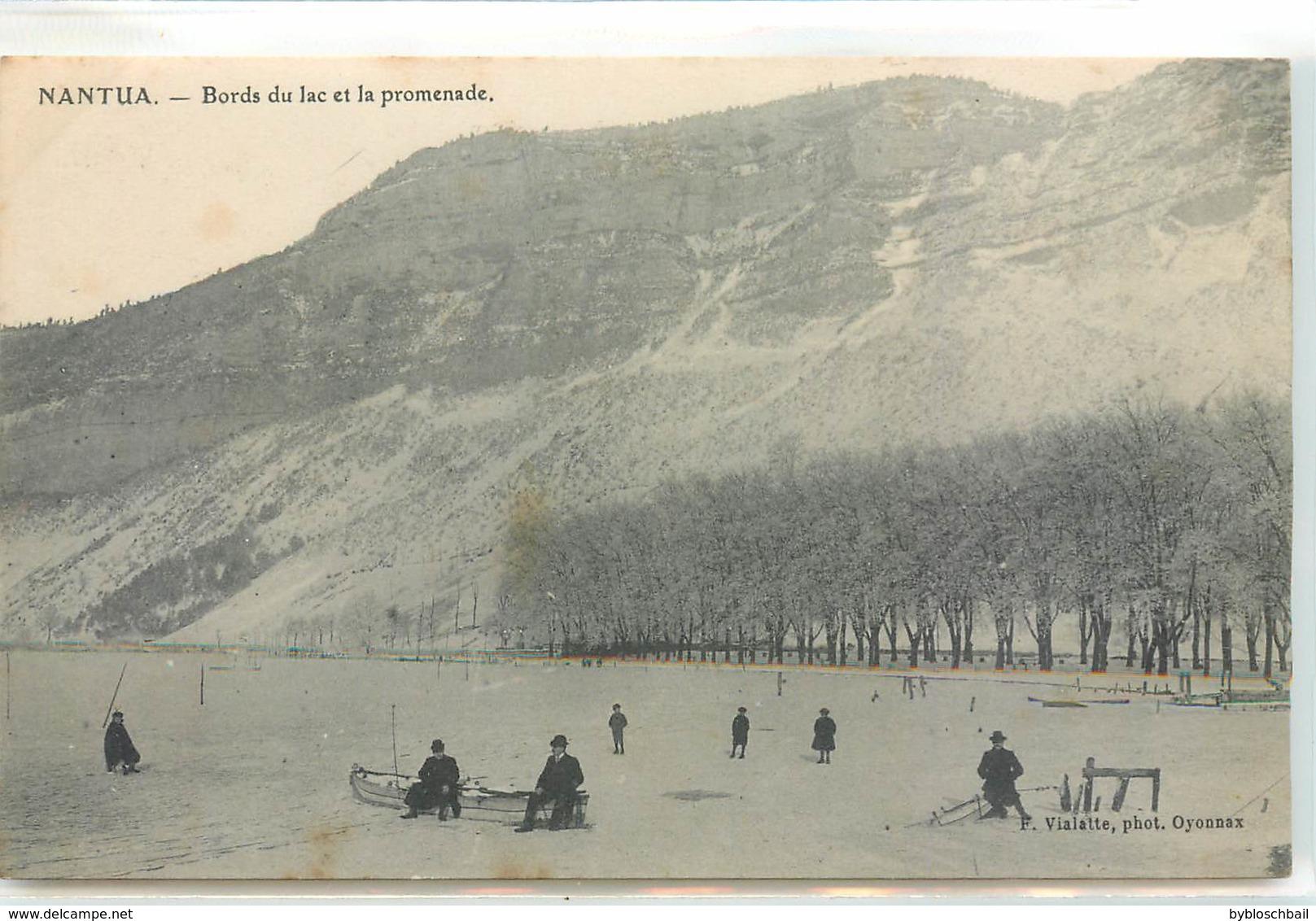 CPA 01 AIN NANTUA - Bords Du Lac Et La Promenade En Hiver - Nantua