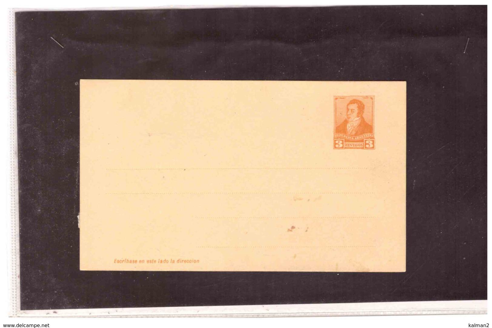 TEM4646  -    ARGENTINA - INTERO POSTALE 3 CENT.  NUOVO - Interi Postali