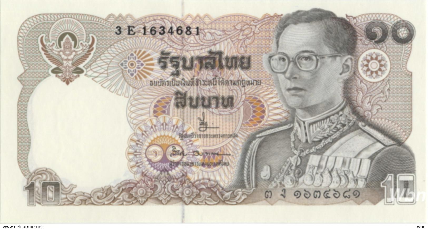 Thailand 10 Baht (P87) Sign 66 -UNC- - Thaïlande