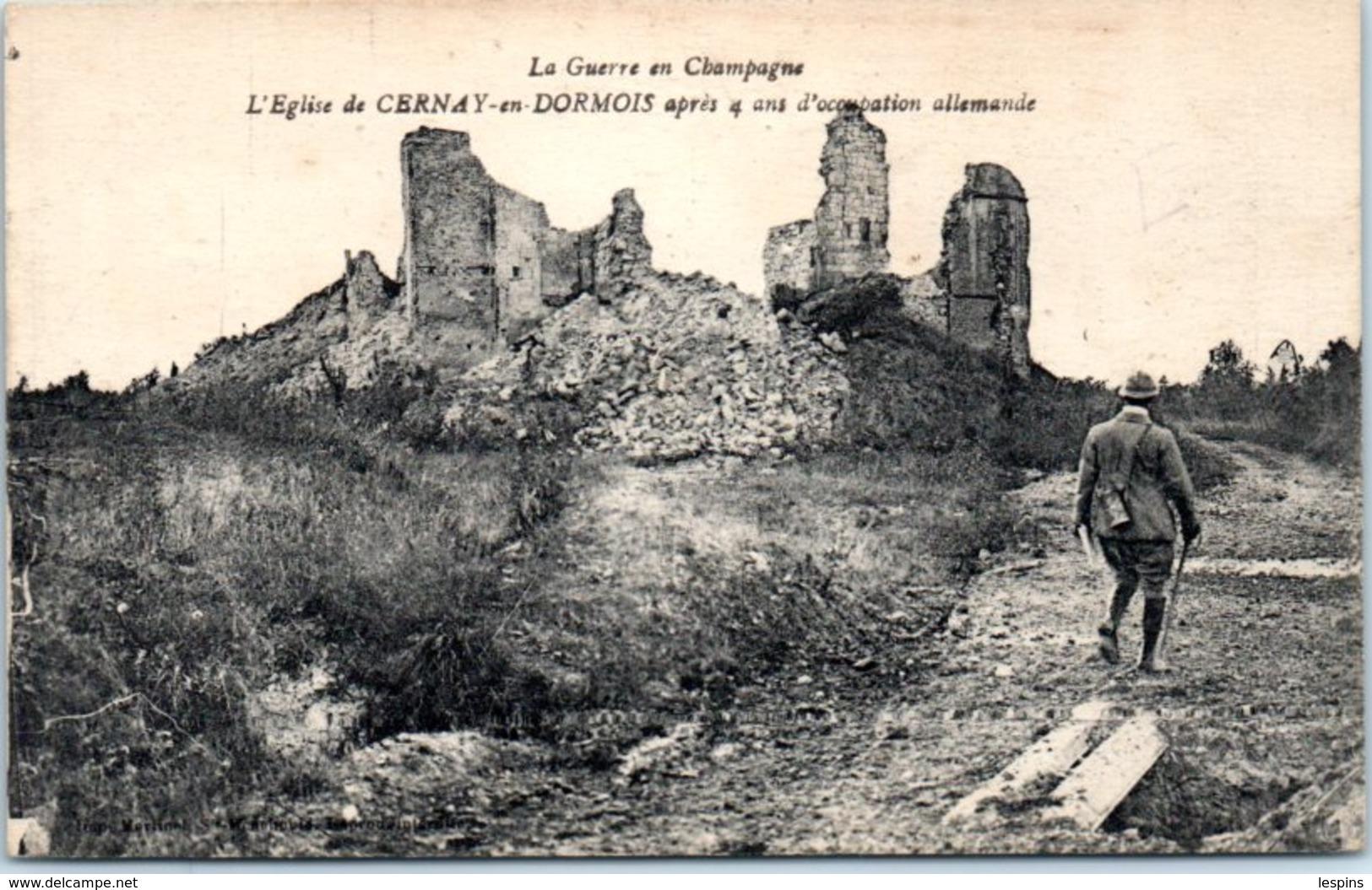 51 - CERNAIS En DORMOIS --  L'Eglise - France