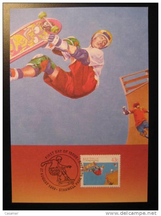 AUSTRALIA Stanwell Park 1990 Skateboard Skateboarding Skate Skating Roller Patinage Patiner Patinaje Maxi Maximum Card - Skateboard