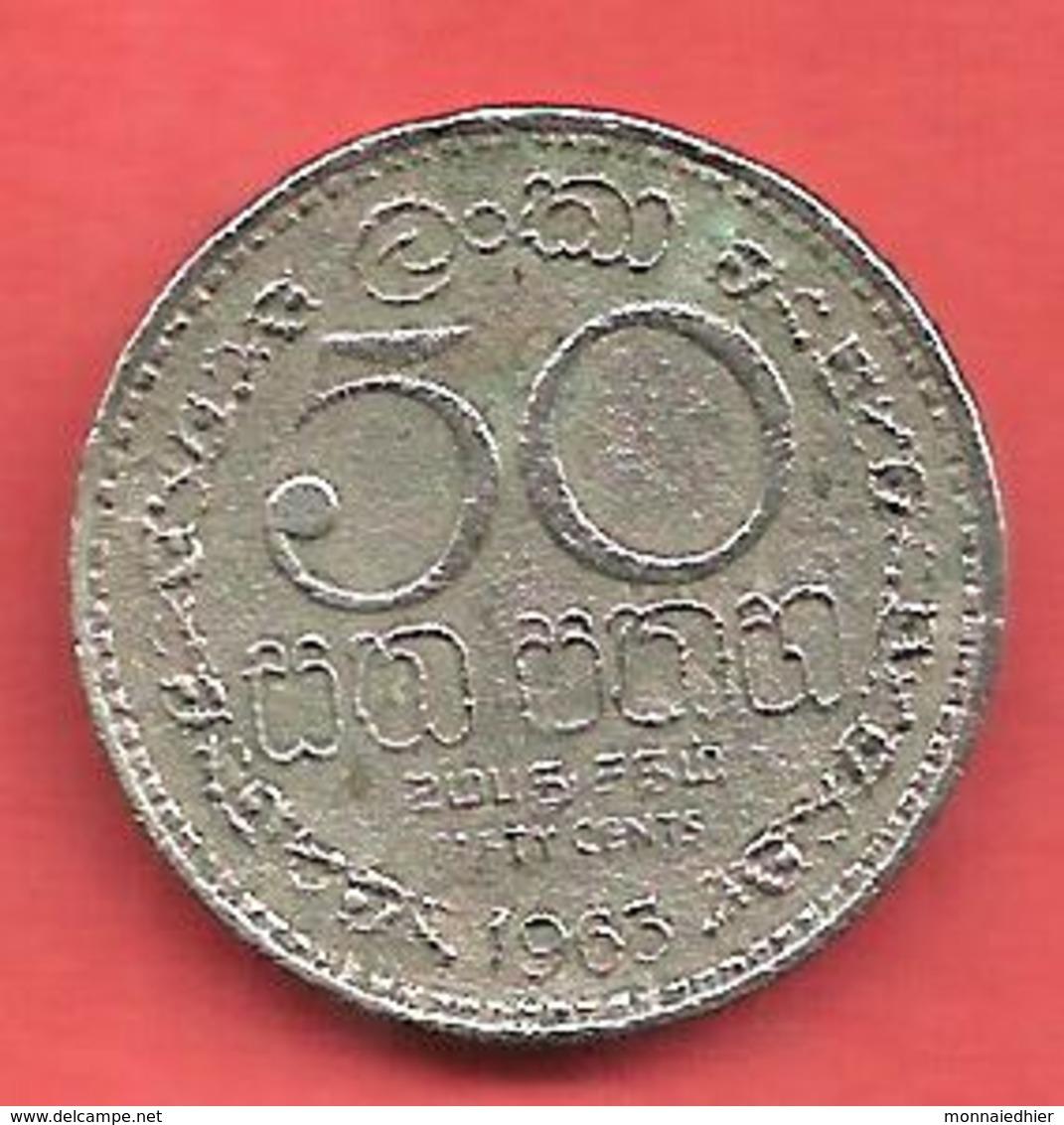 50 Cents , SRI LANKA , Cupro-Nickel , 1963 , N° KM # 132 - Sri Lanka