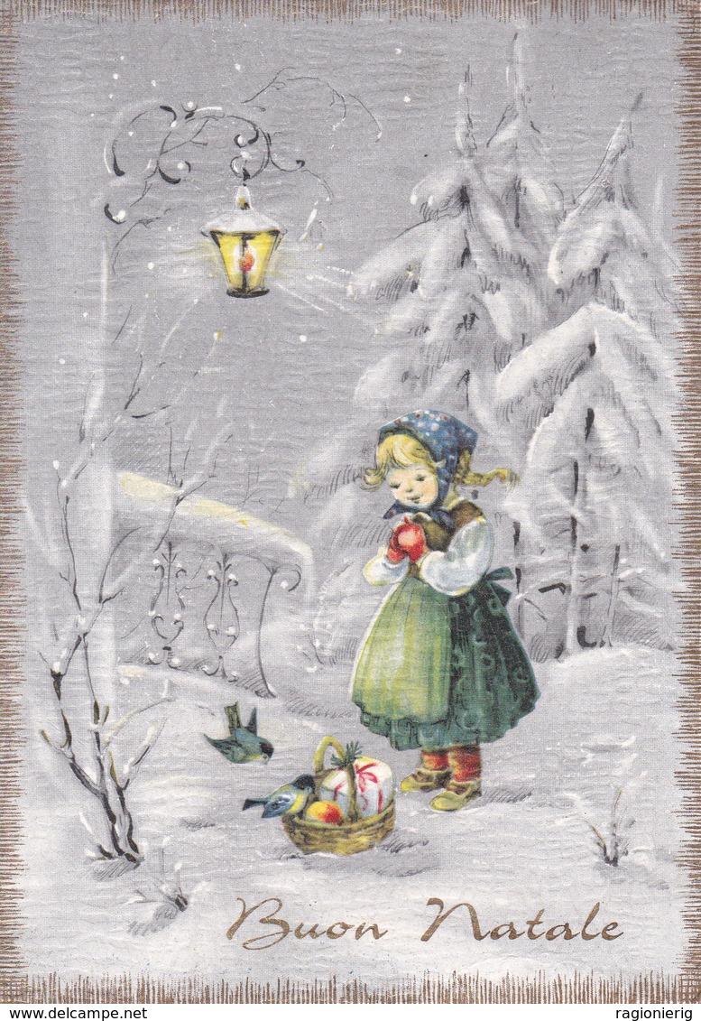 AUGURI FESTE - Buon Natale - Merry Christmas - Feliz Navidad - Joyeux Noël - Bambina Con Cestino Di Doni - 1964 - Natale