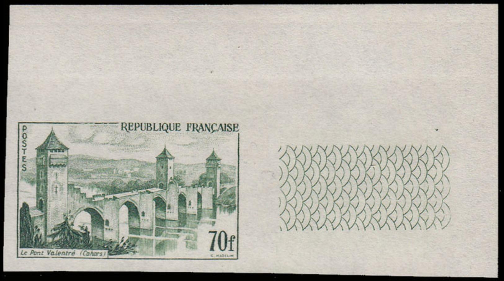 FRANCE Essais  1119 Essai En Vert, Cdf: Pont Valentré, Cahor - Proofs