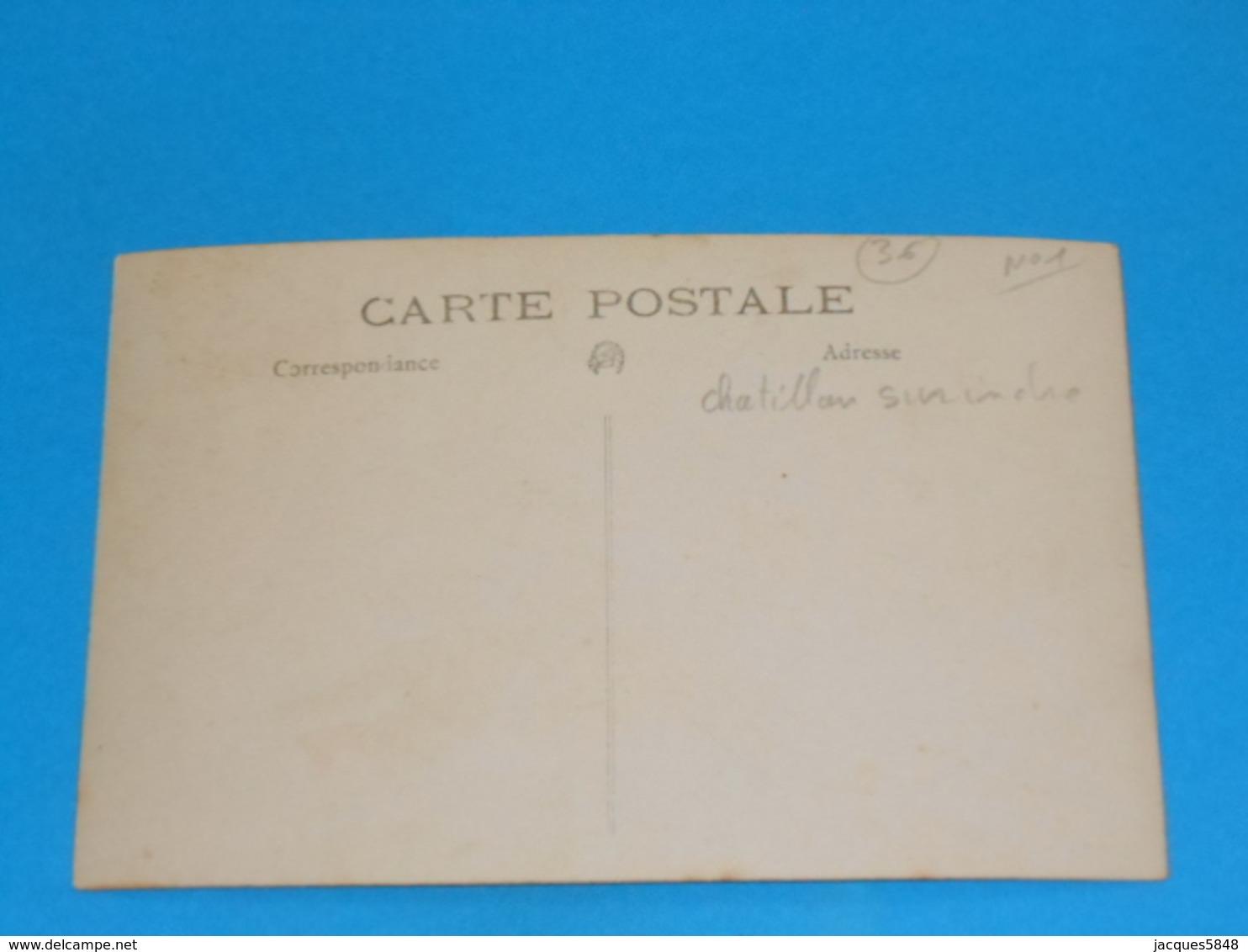 "36 ) Chatillon-sur-indre - Carte Photo  "" Cavalcade ""  N° 1 :  Attelage - France"