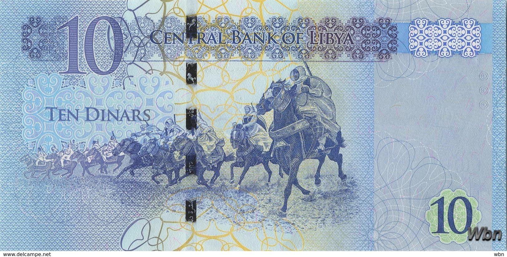 Libya 10 Dinars (P82) 2015 -UNC- - Libye