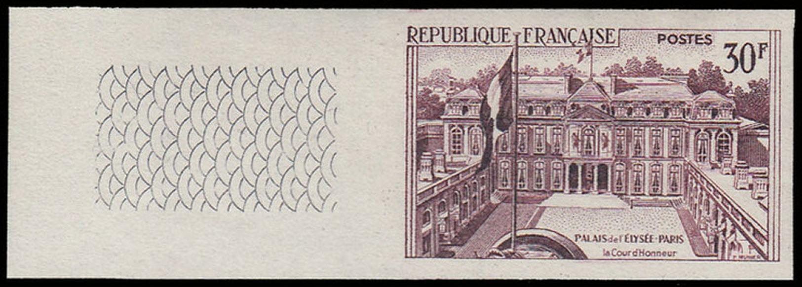 FRANCE Essais  1192 Essai En Violet, Bdf: Cours De L'Elysée - Probedrucke