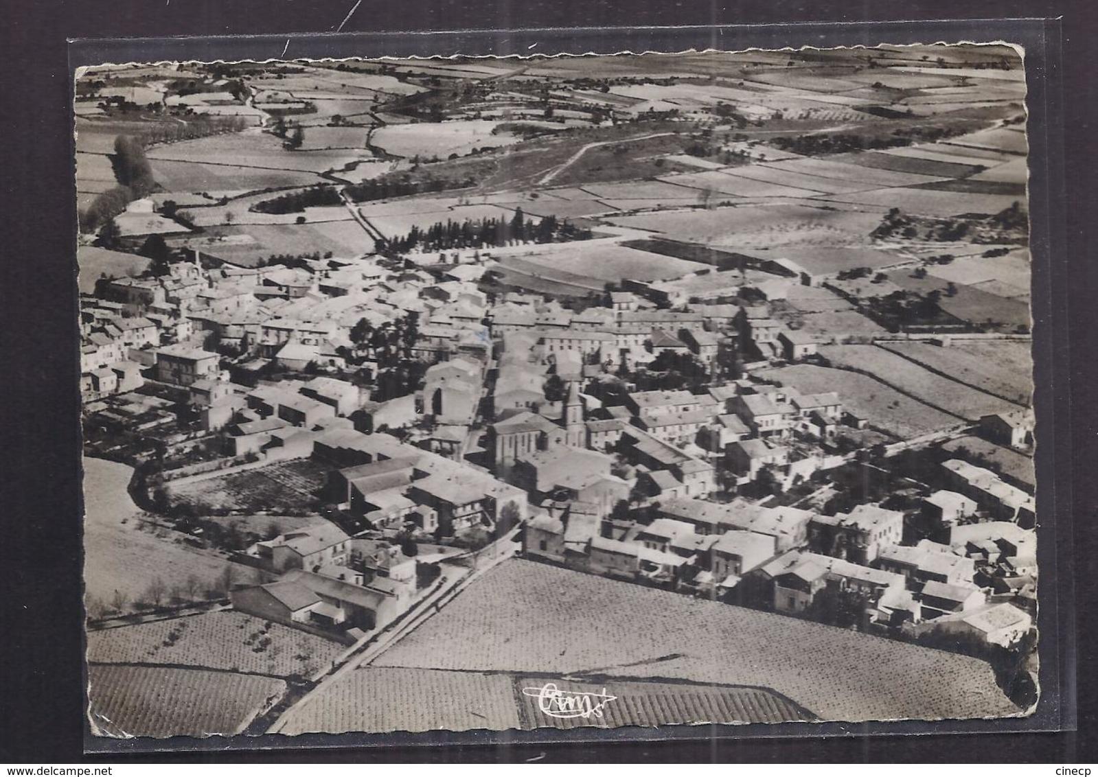 CPSM 34 - MONTBAZIN - Vue Générale Aérienne - TB PLAN D'ensemble Du Village Avec Détails Intérieur CP Voyagée 1956 - France