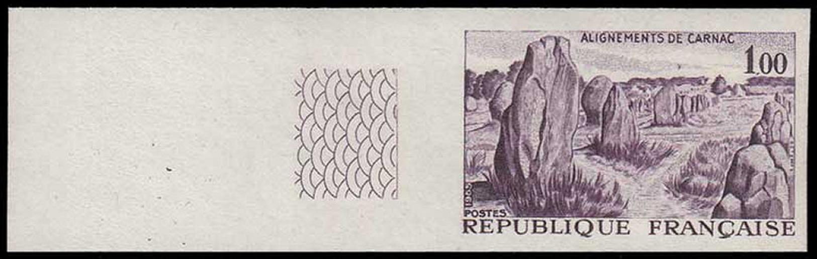 FRANCE Essais  1440 Essai En Violet, Bdf: Alignements De Carnac, Menhirs, Dolmens - Proofs
