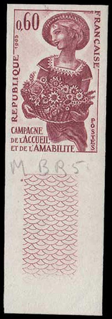 FRANCE Essais  1449 Essai En Brun, Bdf: Campagne D'accueil, Fleurs, Rose - Proofs