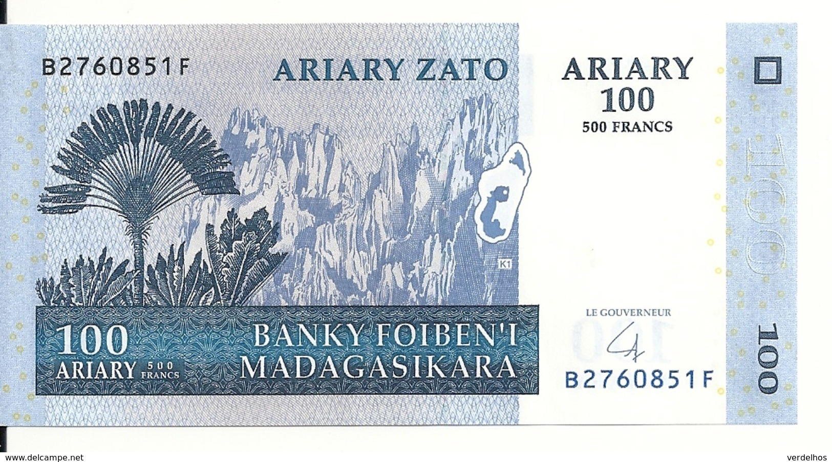 MADAGASCAR 100 ARIARY 2004 UNC P 86 - Madagaskar